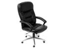 Кресло T-800 AXSH черный кожа крестовина хром