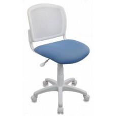 Кресло детское Бюрократ CH-W296NX 26-24 спинка сетка белый TW-15 сиденье голубой 26-24