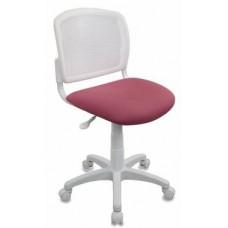 Кресло детское Бюрократ CH-W296NX 26-31 спинка сетка белый TW-15 сиденье розовый 26-31