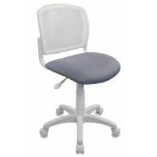 Кресло детское Бюрократ CH-W296NX 15-48 спинка сетка белый TW-15 сиденье серый 15-48
