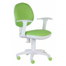 Кресло детское Бюрократ Ch-W356AXSN 15-118 салатовый 15-118 колеса белый, салатовый (пластик белый)