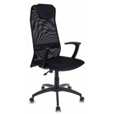 Кресло руководителя Бюрократ KB-8 BLACK черный TW-01 TW-11 сетка