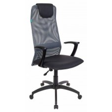 Кресло руководителя Бюрократ KB-8 DG, TW-12 серый TW-04 TW-12 сетка