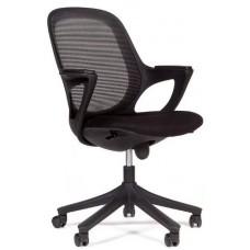 Кресло Chairman 820  черный пластик DW01 черный