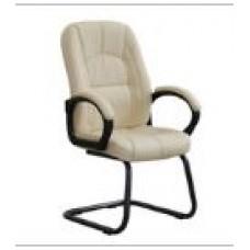 Кресло Сириус С 111/2 PU кремовый экокожа на полозьях.