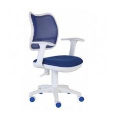 CH-W797/BL/TW-10A спин сетка синий сиденье синий(пластик белый)