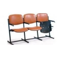 Секция ВИЗО трехместная с откидными сидениями и подлокотниками
