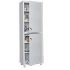 Шкаф медицинский двухстворчатый со стальными дверями MD 1 1760/SS
