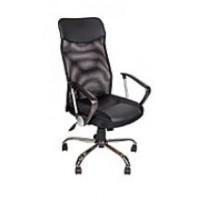 Кресло AV 128 СН  (682 SL) MK кз/TW-сетка/сетка односл 311/455/470 черн/черн/черная