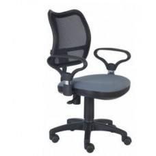 CH-799 AXSN/Grey  спинка сетка черный сиденье серый  26-25