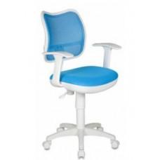 CH-W797/LB/TW-55 спинка сетка голубой сиденье голубой ткань