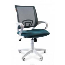 Кресло Chairman 696  TW-18/TW-03 зелёный на белом пластике